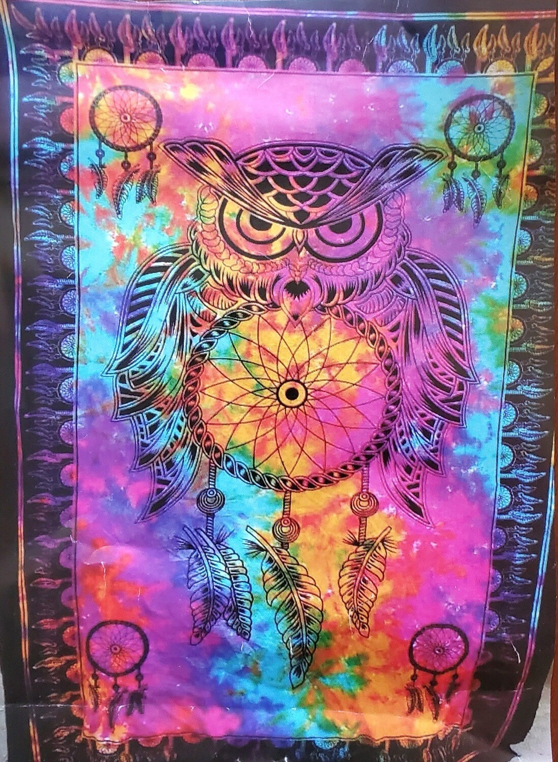OWL DREAMCATCHER TAPESTRY