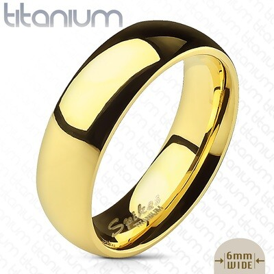 GR23 SOLID TITAN GLOSSY GOLD RING