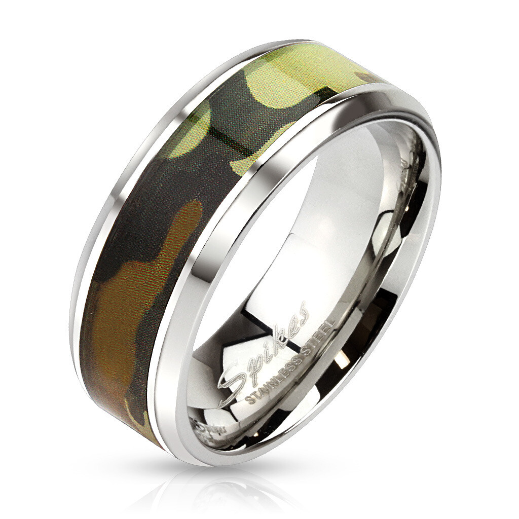 316L CAMO INLAY RING