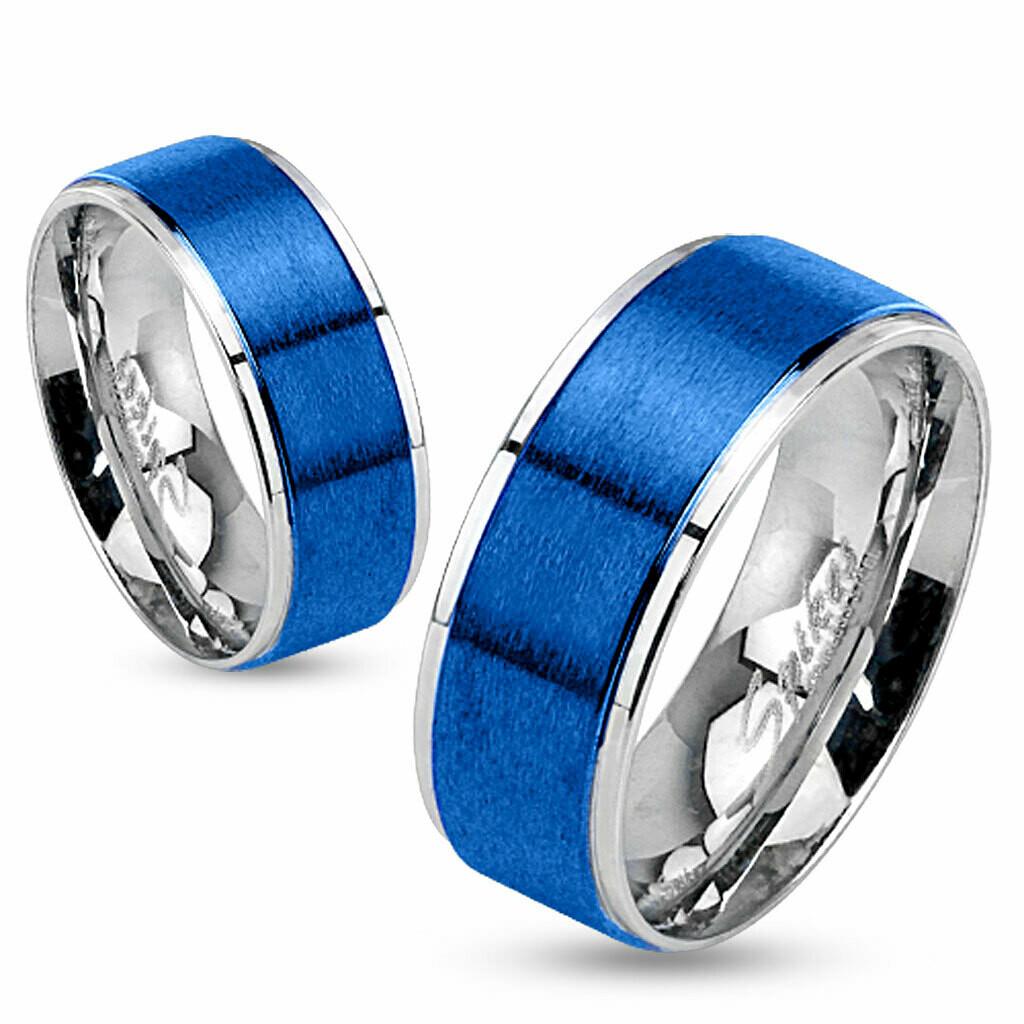 316L BLUE IP SPINNER RING