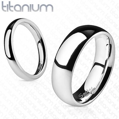 GR23 SOLID TITAN GLOSSY SILVER RING