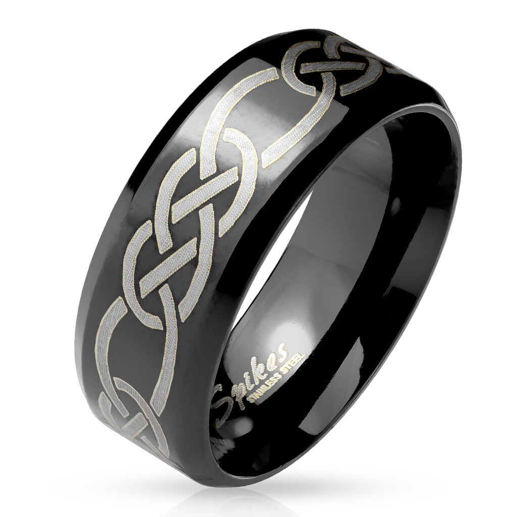 316L TRIBAL KNOTS ENGRAVED RING