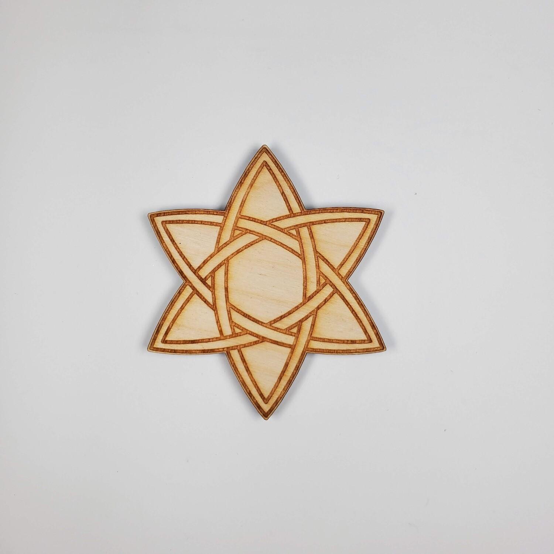 """3"""" CELTIC STAR CRYSTAL GRID SET"""
