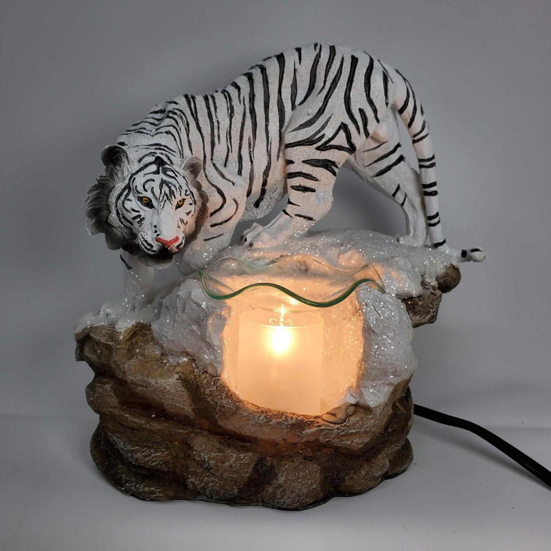 WHITE TIGER ADJUSTABLE LAMP