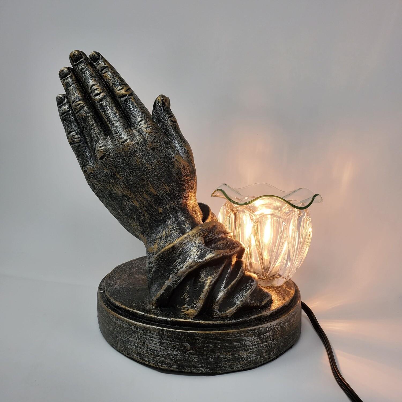 PRAYING HANDS CERAMIC ADJ LAMP