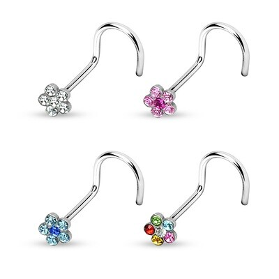 4PK GEM FLOWER SCREWS 316L