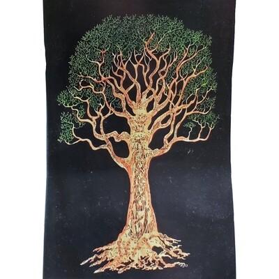 TREE ON BLACK TAPESTRY