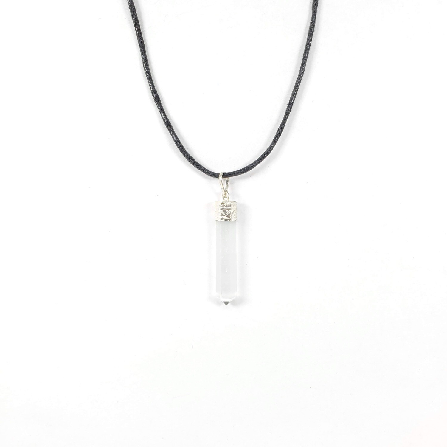 SELENITE PENCIL NECKLACE