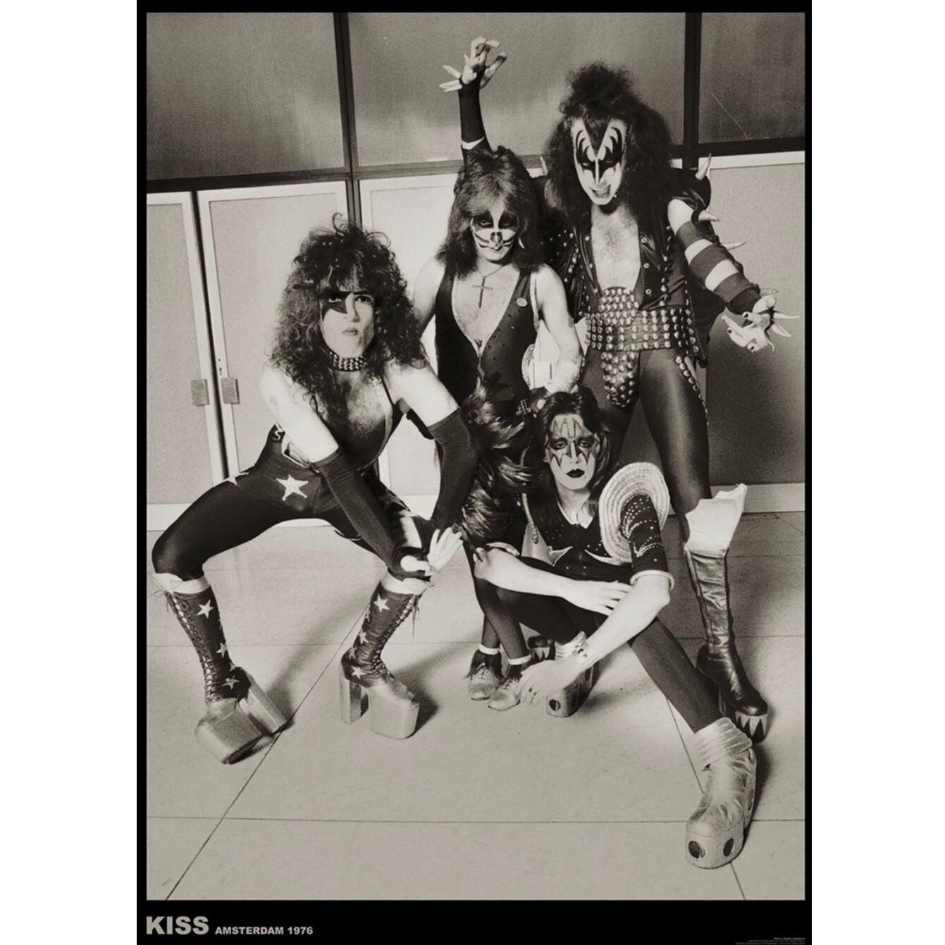 KISS (eu) AMSTERDAM 1976 POSTER