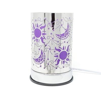 PURP/SLVR CELESTIAL TOUCH LAMP