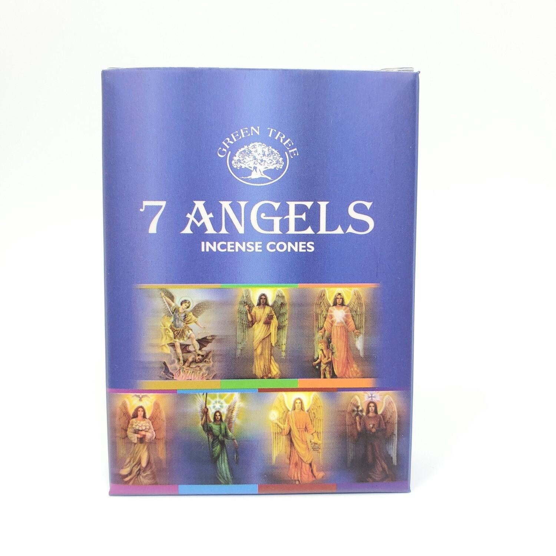 7 ANGELS GREEN TREE CONES