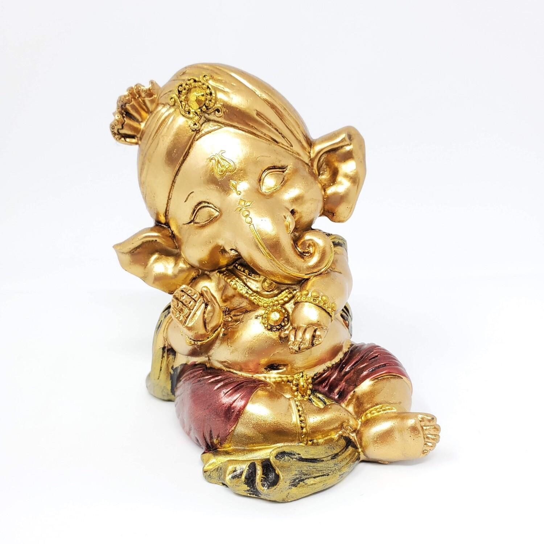 BLESSING GOLDEN BABY GANESHA