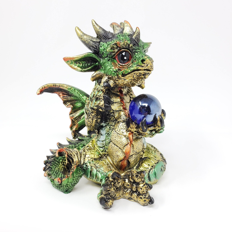 LG GREEN BABY DRAGON W/SPHERE