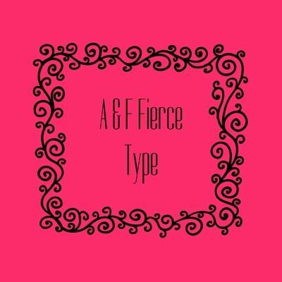 FIERCE  A&F TYPE FRAGRANCE OIL