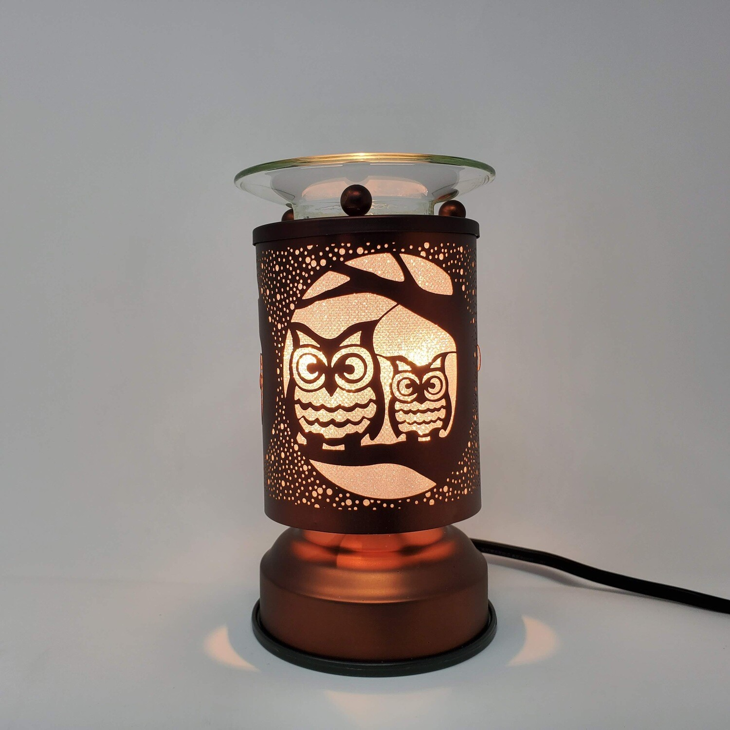 OWLS COPPER TOUCH LAMP