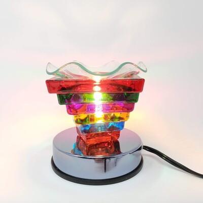 RAINBOW PYRAMID GLASS TOUCH LAMP