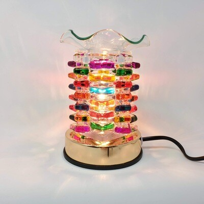 RAINBOW LAYERED GLASS TOUCH LAMP