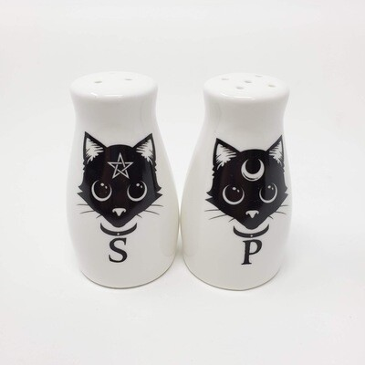 MAGIC CATS SALT&PEPPER SHAKERS