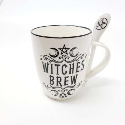 WITCHES BREW MUG&SPOON SET