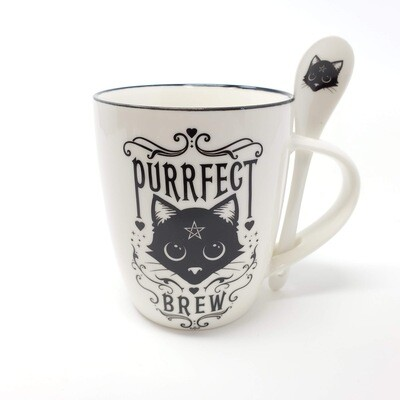 PURRFECT BREW MUG&SPOON SET