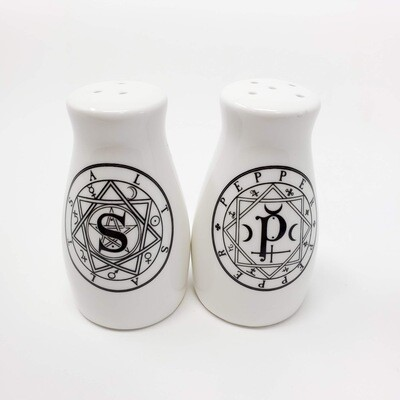 SACRED GEOMETRY SALT&PEPPER SHAKERS