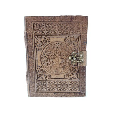 TREE OF LIFE LEATHER LATCH JOURNAL