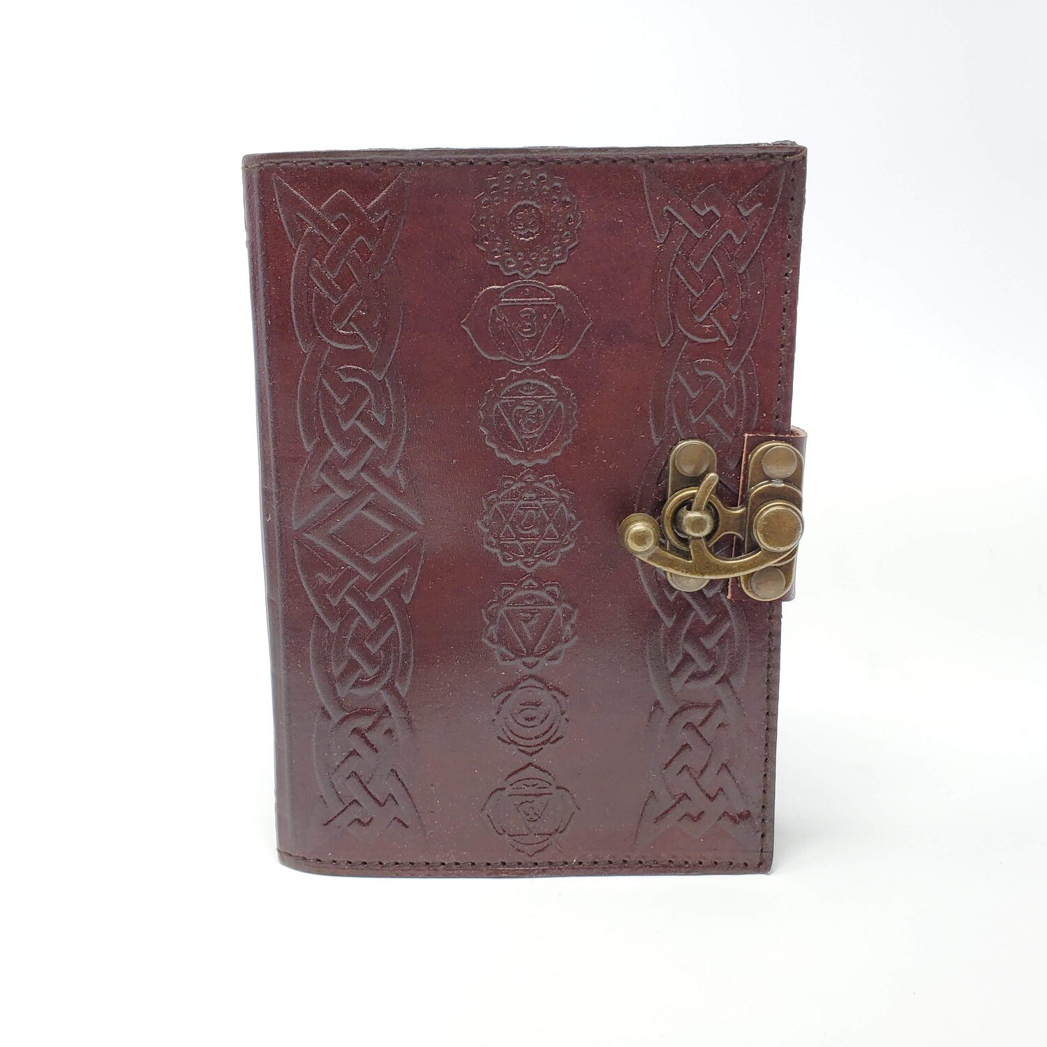 CHAKRA SYMBOLS LEATHER JOURNAL
