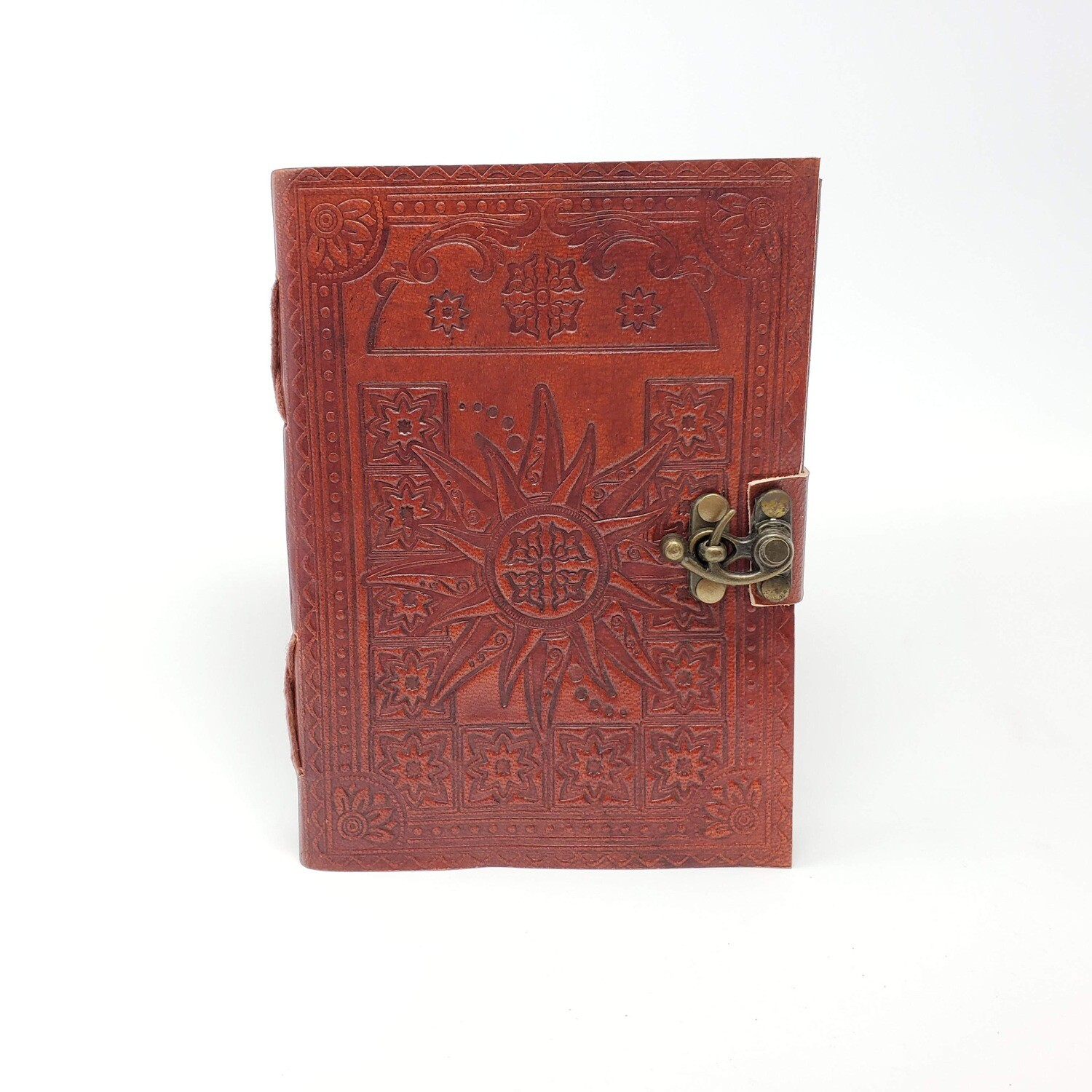 SUN LEATHER JOURNAL W/LATCH