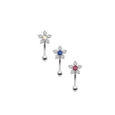 3PK 6CZ FLOWER EYE 16G 1/4