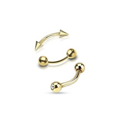 3PK GOLD EYEBROW ASST 16G 5/16