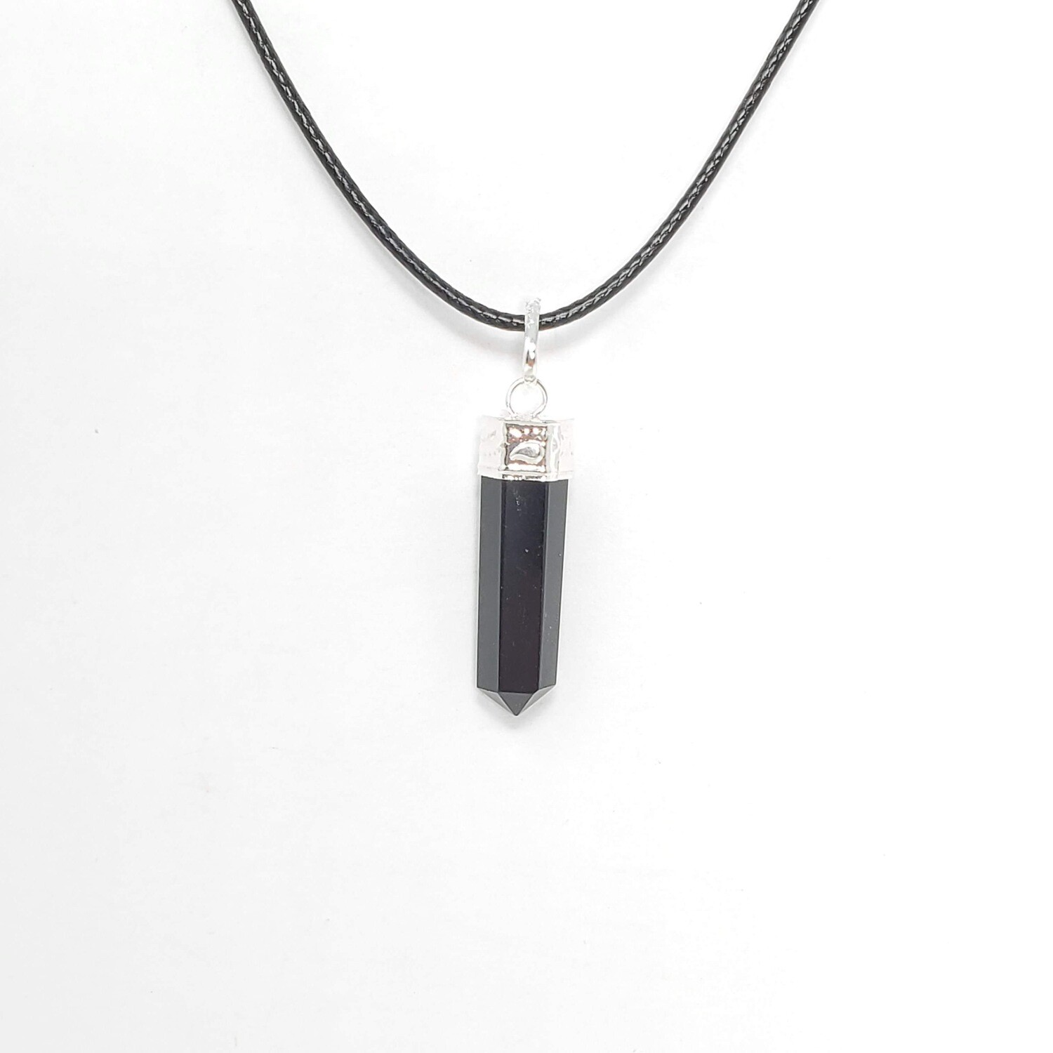 OBSIDIAN PENCIL NECKLACE