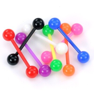 8PK ACR SOLID BALL TONGUE BAR 14G 5/8