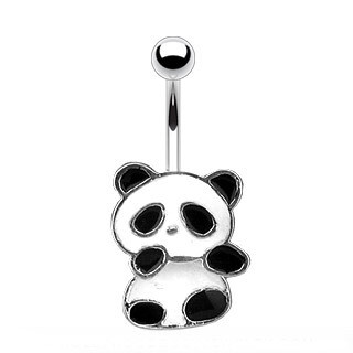 PANDA BEAR BELL NAVEL 14G 3/8