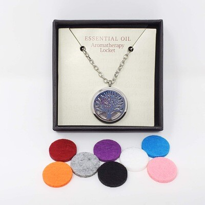 TREE OF LIFE AROMA LOCKET W/PADS