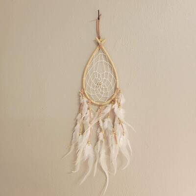 RATTAN RAIN DROP DREAMCATCHER