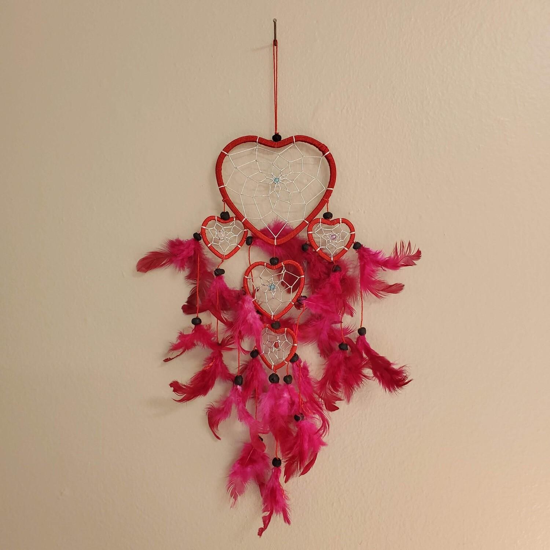 RED HEART DREAMCATCHER