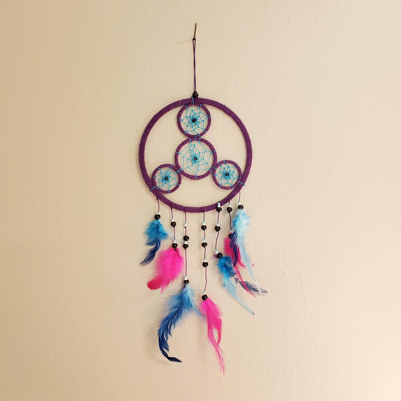 """HOT PINK/BLUE DREAMCATCHER 6"""""""