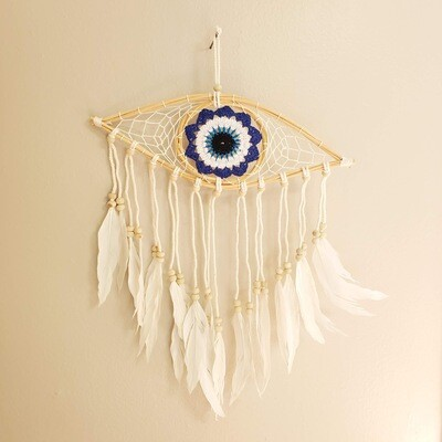 EVIL EYE CROCHET DREAMCATCHER