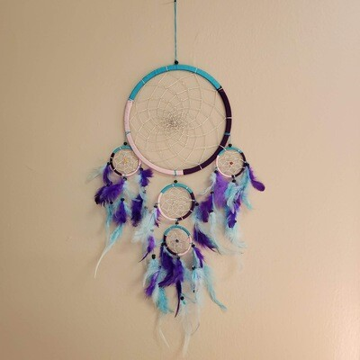 5-RINGS PURPLE/BLUE DREAMCATCHER