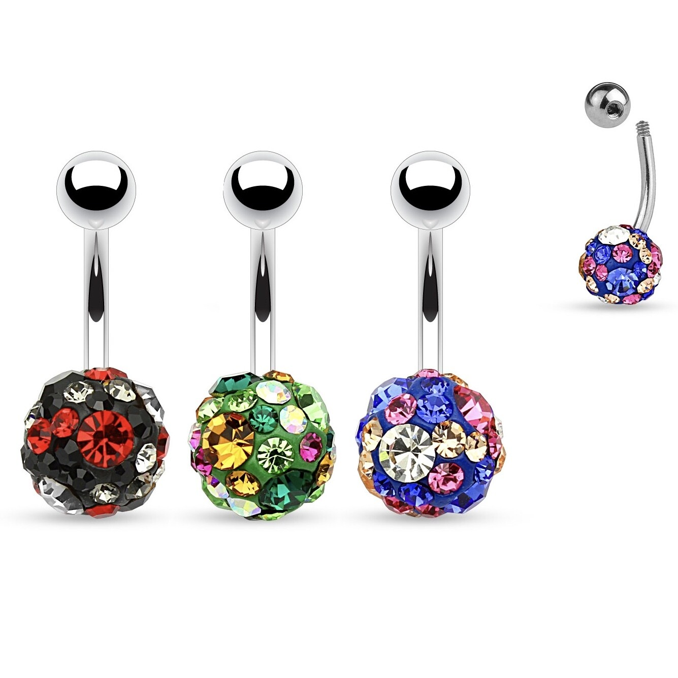 DISCO GEMS NAVEL 14G 3/8""