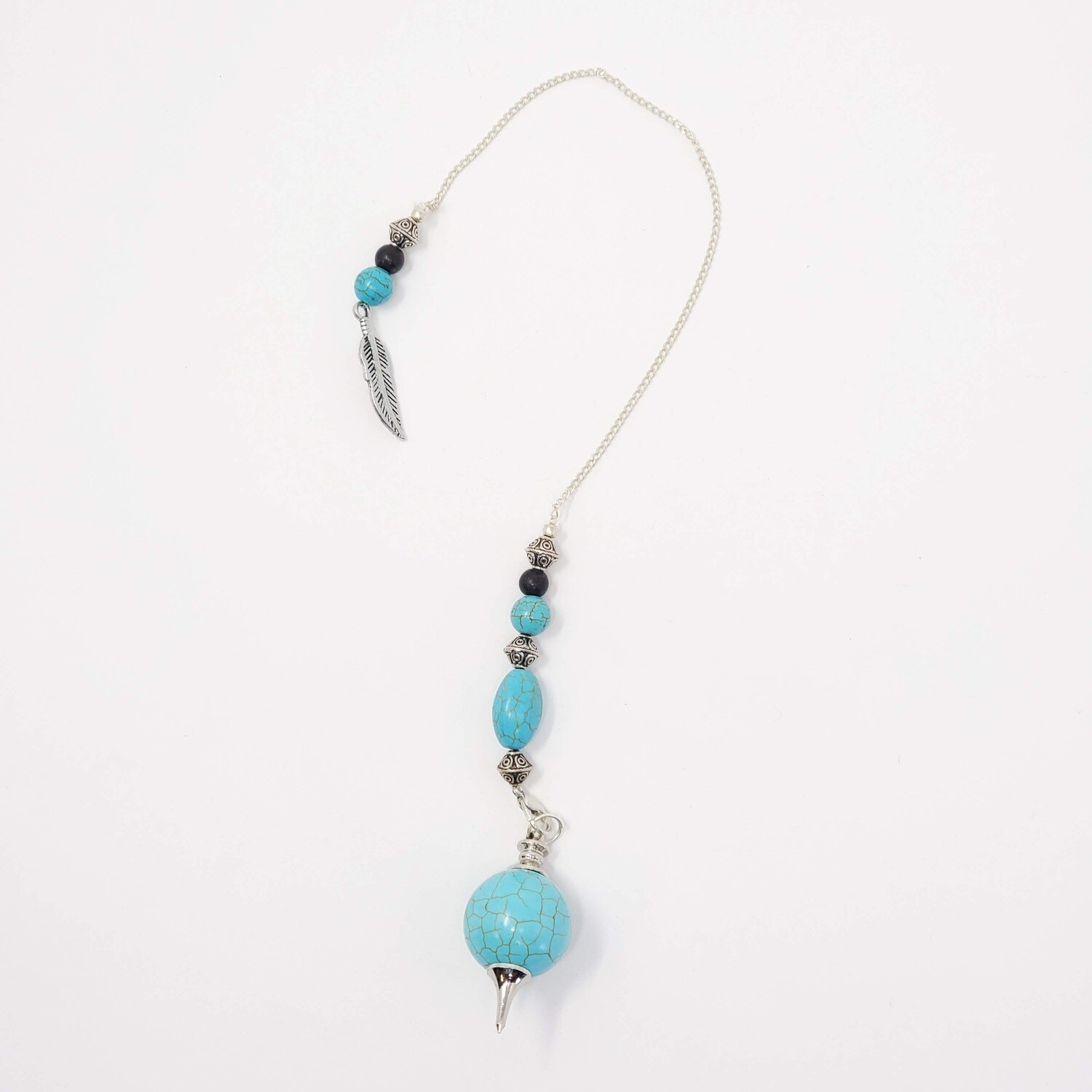 TURQUOISE FEATHER PENDULUM