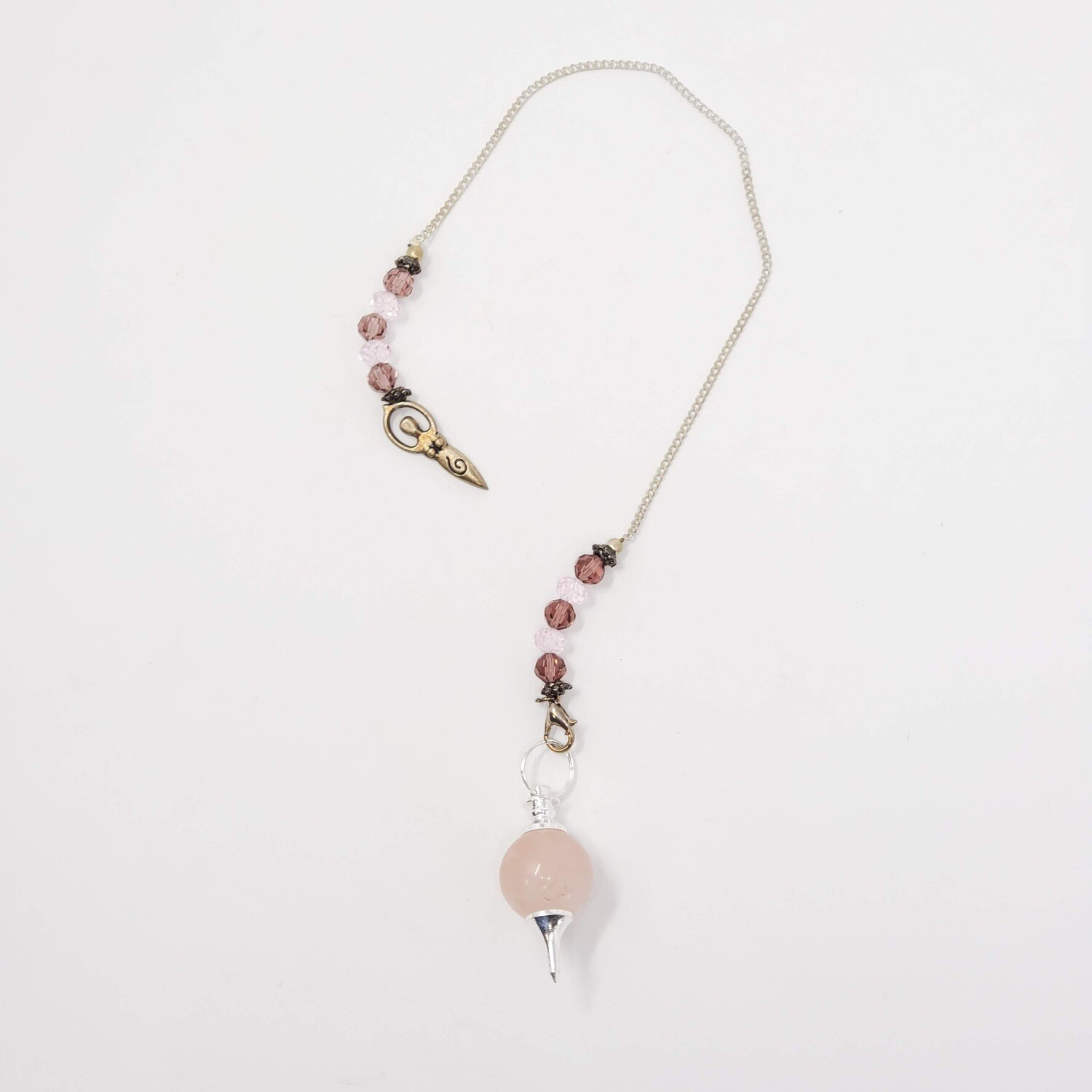 ROSE QUARTZ GODDESS PENDULUM