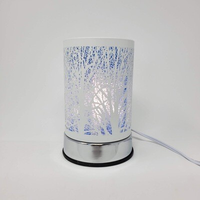 WHT/BLUE FOREST TOUCH LAMP