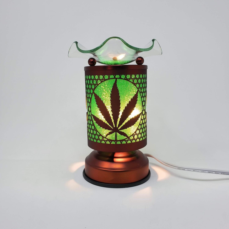 GREEN CANNABIS COPPER TOUCH LAMP