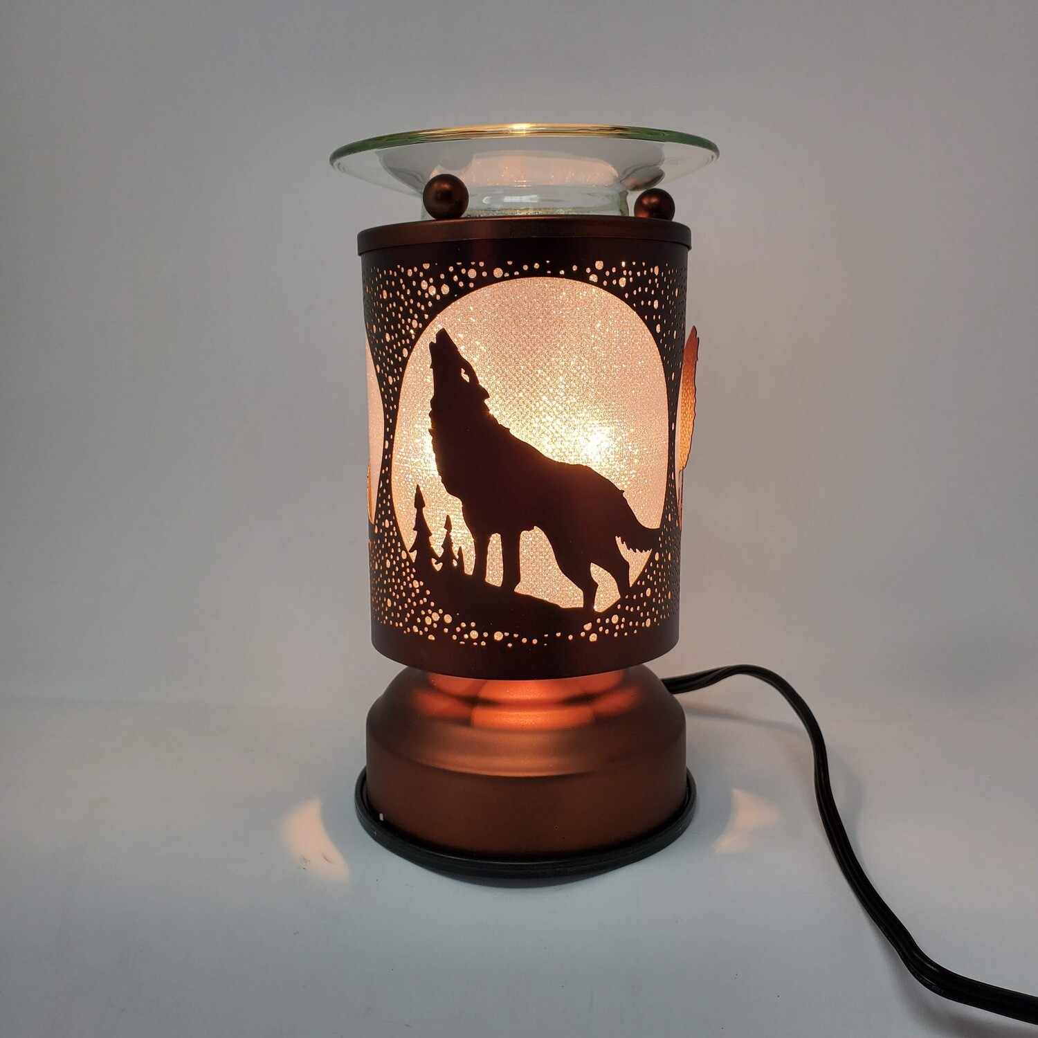 HOWLING WOLF COPPER TOUCH LAMP