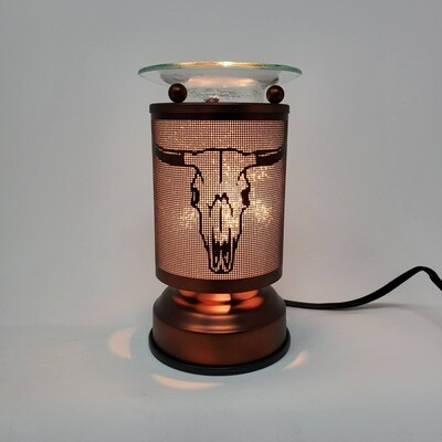 COW SKULL COPPER TOUCH LAMP