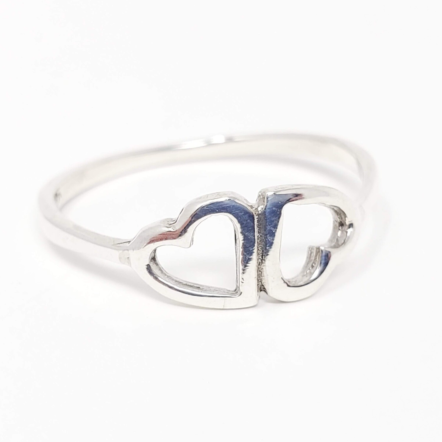 925 INVERTED HEARTS RING