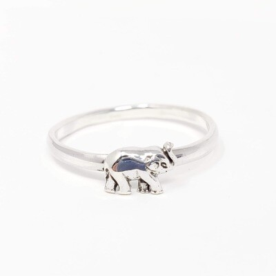 925 BABY ELEPHANT SIMPLE RING