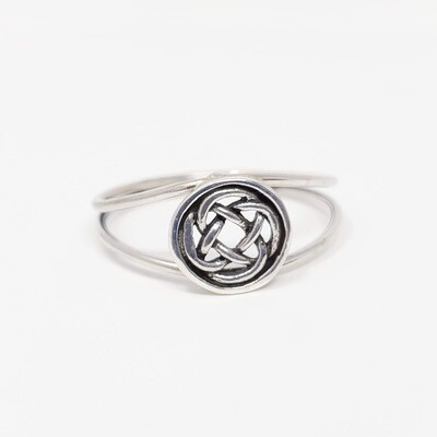 925 ROUND CELTIC KNOT RING