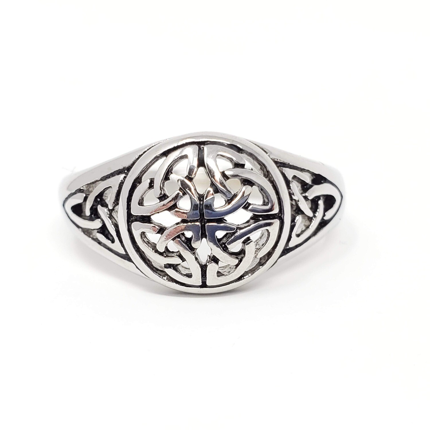 316L CELTIC WEAVE TRIQUETRA RING